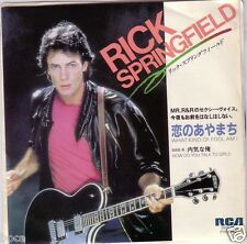 "MINT 7"" JAPAN RICK SPRINGFIELD WHAT KIND OF FOOL AM I / HOW DO YOU TALK TO GIRLS"