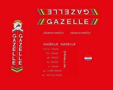 Gazelle Champion Mondial Bicycle Decals, Transfers, Stickers #01