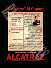 Al Capone Mafia Gangster Mug Shot/Rap Sheet Poster - Alcatraz 1934 - Exclusive