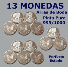 ARRAS - 13 MONEDAS DE PLATA PURA 999/1000 SILVER LIBERTY