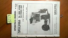 New Idea 800C Hydro Uni-Power Unit 6 Cyl Turbo Diesel Owner's Operator's Manual