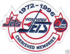 WINNIPEG JETS CHERISHED MEMORIES JERSEY PATCH 1972-1996 WHITE VERSION