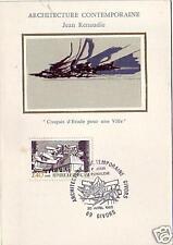 2365+ FDC CARTE 1er JOUR SOIE ARCHITECTURE COMTEMPOR.