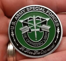 Special Forces GREEN BERET US Army De Oppresso Liber challenge coin