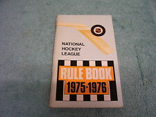 1975-1976 NATIONAL HOCKEY LEAGUE OFFICIAL RULE BOOK NHL