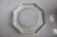 Octaganol Cristallo Champagne/Vino Bottiglia Coaster-perdere cristalli di diamante al centro
