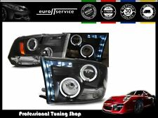 NEUF 2 FEUX AVANT PHARES LAMPS LPDO08 DODGE RAM 2009-2011 ANGEL EYES BLACK