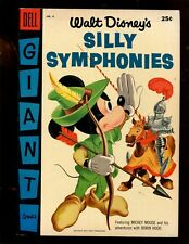 DELL SILLY SYMPHONIES GIANT #6 (8.0) MICKEY MOUSE ADVENTURES WITH ROBIN HOOD!