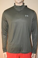 Under Armour Men's 1/4 Zip Military Green Loose Fit Long Sleeve Shirt Size XL