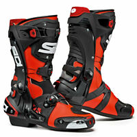 Sidi Rex CE Moto Motorcycle Bike Boots Fluo Red / Black