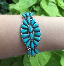 New Turquoise Sterling Silver Light Duty Cuff Bracelet