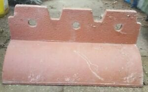 Red Crested Victorian 3 hole clay ridge tiles 7 available. Ornate Ridge Tile.