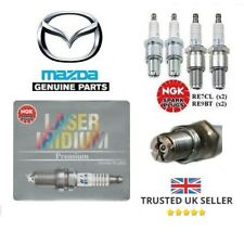 GENUINE MAZDA RX8 SPARK PLUGS LEADING & TRAILING SET LASER IRIDIUM RE7C-L RE9B-T