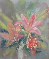 Expressionist floral oil painting