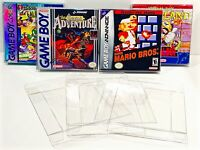 25 Box Protectors GAME BOY / VIRTUAL / COLOR / ADVANCE Nintendo Boxes Cases CIB