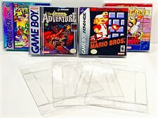 10 Box Protectors For GAME BOY / VIRTUAL / COLOR / ADVANCE Nintendo Cases CIB