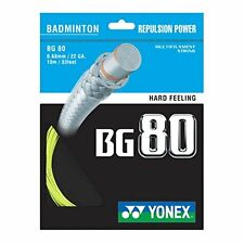 Genuine Yonex bg80 Racchetta Da Badminton Stringa BG 80 - 10m-GIALLO-GRATIS UK P & P