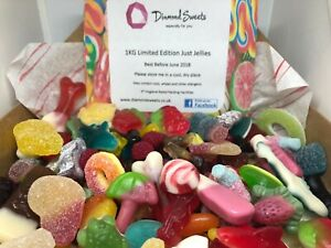 Large 1kg Just Jellies Pick n MIx Sweets Box - Freshly Hand Created - Jelly