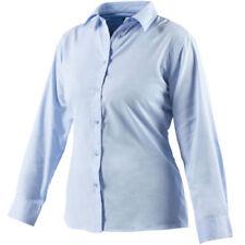 Camisas y tops de mujer de manga larga color principal azul de poliéster