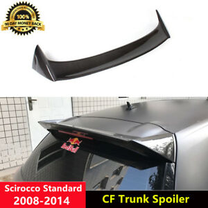 Rear Roof Spoiler Carbon Fiber Wing for VW Scirocco Non-R 2008-2014 O Style