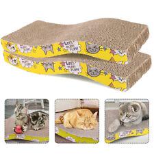 New listing 2 Pack Cat Scratcher Cardboard Pet Kitty Scratch Bed Sofa Lounge Pad W/Catnip Us