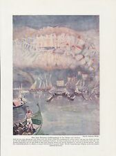 Fata Morgana en el estrecho de Messina impresión en color de 1912 luftspiegelung