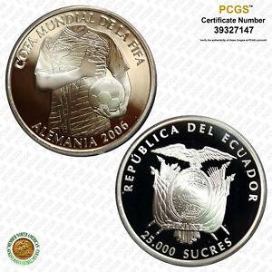 Ecuador 2006 25000 S FIFA World Cup, DCAM PCGS PR 69 Top Grade!