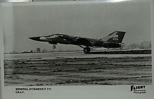 Flight International Photo General Dynamics F-111 USAF  Postcard