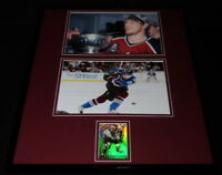 Peter Forsberg Signed Framed 16x20 Photo Display JSA Avalanche