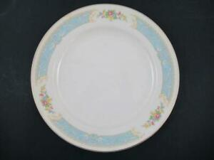 """Vintage Knowles Dinner Plate Dish Blue Dawn Floral Multicolor Gold China 10.25"""""""