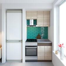 Küche ALINA 110 cm Küchenzeile Einbauküche Küchenblock Eiche Sonoma NEU