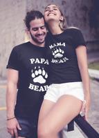Papa Bear & Mama Bear T Shirts SET Family Matching Couples Outfits Dad Mom Gift