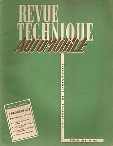 REVUE TECHNIQUE AUTOMOBILE 118 RTA 1956 ETUDE PEUGEOT 403 MERCEDES 190 ET 300