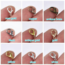 100Pcs Hook Jewelry DIY Findings Vintage Bronze Alloy Lobster Clasp Hooks 7*12mm