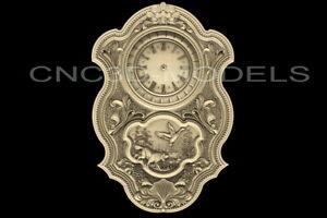 3D Model STL for CNC Router Carving Artcam Aspire Hunting Dog Clock Hunt D221