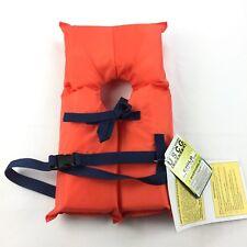 NEW Children's Life Jacket USCG Approved 30-50 Lbs Orange Safety Vest