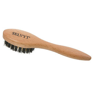 Selvyt Oval Beechwood Suede Brush