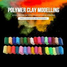 Polymer Clay Tool Set 32 Color Oven Bake with DIY Soft Craft Modelling Kit