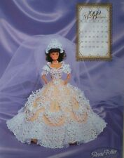 Annies Attic 1999 Bridal Dreams Barbie Fashion December Crochet Bed Doll Pattern