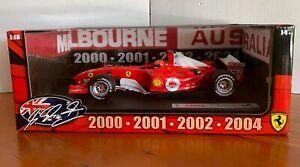 HotWheels Racing Melbourne 2000-2004 Michael Schumacher Ltd. Ed. 1:18