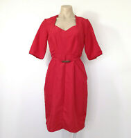 EMERGE Designer Red Crinkle Dress Size 10 BNWT