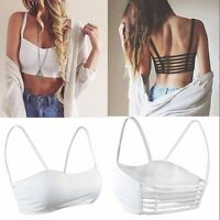 New Celebrity  Women Bralette Cage Caged Back Cut Out Padded Bra Bralet Crop RW