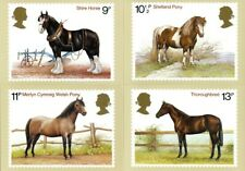 5 JULY 1978 HORSES SET OF ALL 4 PHQ CARDS No 30 MINT / UNUSED