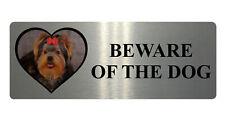 173 BEWARE OF DOG Personalised Photo Metal Aluminium Plaque Sign Door Gate Wall