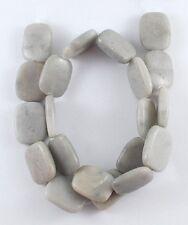 4 Perles en Pierre Naturelle Jaspe Rectangulaire Gris 20mm x 15mm x 4mm