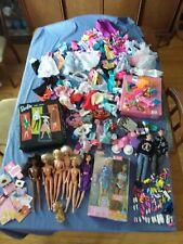Vintage lot of Barbie dolls, clothes, accessories Black ponytail case +++ more