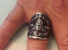 One Week Sale Support Your Local Outlaw Stainless Steel Ring Size 11