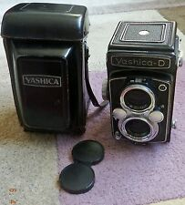 Con Custodia YASHICA-D TLR camera 80mm f3.5 visualizzazione Yashikor & tenendo Lenti