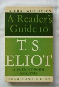T.S.Eliot (Reader's Guides) by Williamson, George Paperback Book The Cheap Fast