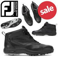FootJoy HydroLite Waterproof Men's Golf Boots Black - NEW! 2019 *REDUCED*